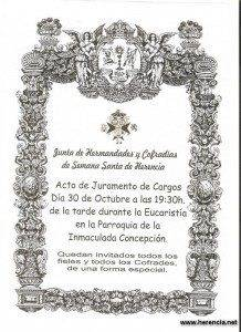Cartel Juramento Cargos Junta de Hermandadesde Herencia
