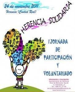 Cartel Voluntariado1 244x300 - En noviembre tendrán lugar en Herencia unas Jornadas de Participación y Voluntariado