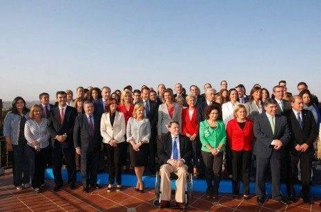 Foto de familia de Cospe...n los candidatos 17 10 11 465x308 - Cristina Rodríguez candidata al Senado por el Partido Popular de Ciudad Real
