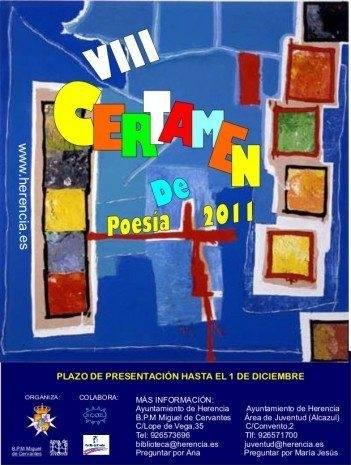 Convocado el VIII Certamen de Poesía con más de 800 euros en premios 1
