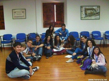 Jóvenes de Herencia participantes en el Congreso
