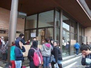 Huelga de educación en Herencia - 3 de noviembre de 2011