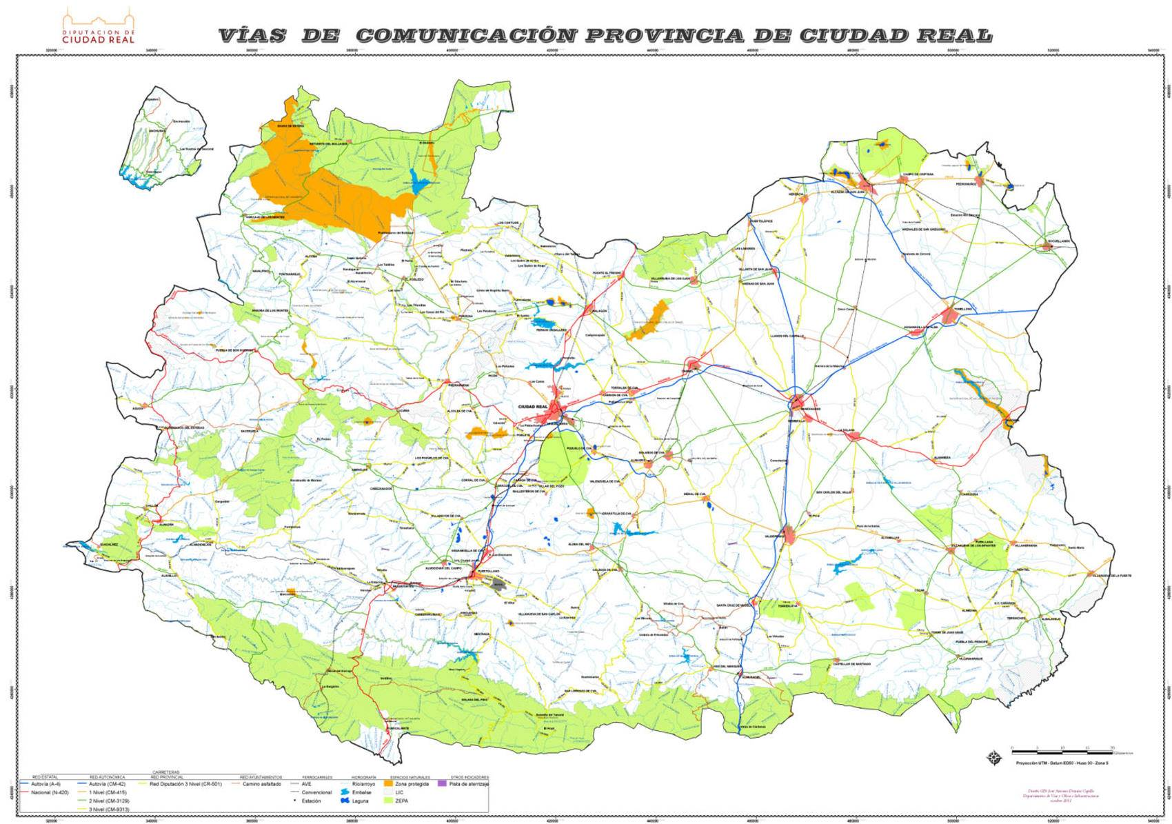 Mapa Provincia Ciudad Real.La Diputacion Edita Un Mapa Provincial De Carreteras