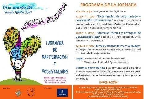 TARJETON VOLUNTARIADO ok 465x320 - Jornadas de Participación ciudadana y Voluntariado