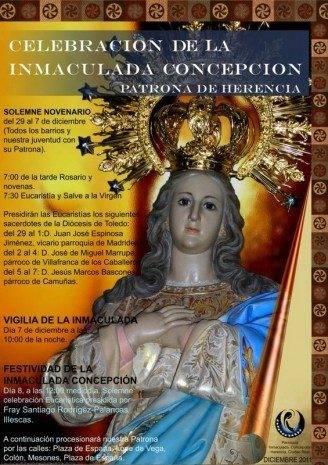 cartel novena parroquia inmaculada 2011 328x465 - Actos religiosos en honor a la Inmaculada Concepción