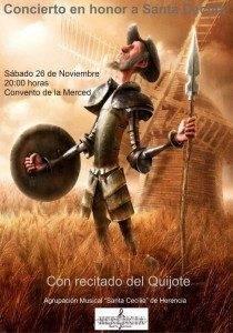 """cartel santa cecilia2011 210x300 - La agrupación musical """"Santa Cecilia"""" prepara la celebración de su patrona"""