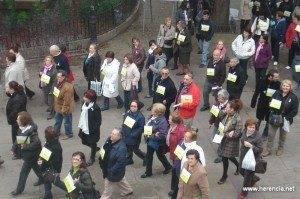 herencia manifestacion a 300x199 - Marcha contra la Violencia de Género en Herencia