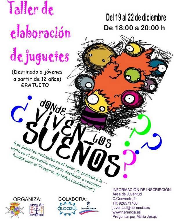 2011 TALLER DE JUGUETES - Los jóvenes de Herencia aprenderan a realizar juguetes y complementos solidarios