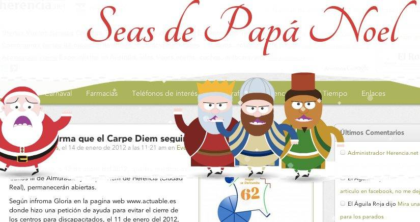Captura de pantalla 2012 01 14 a las 19.38.58 - Felicitación navideña del equipo de redacción de Herencia.net