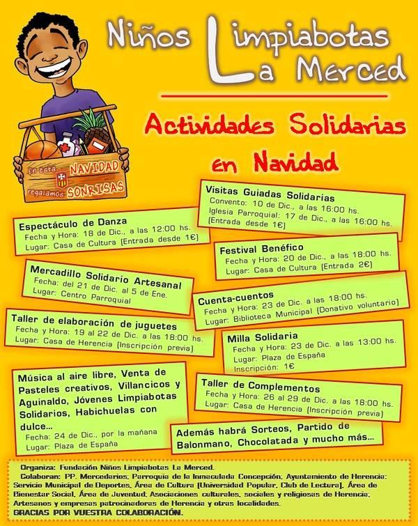 Cartel Actividades Solidarias FNL Navidad 2011