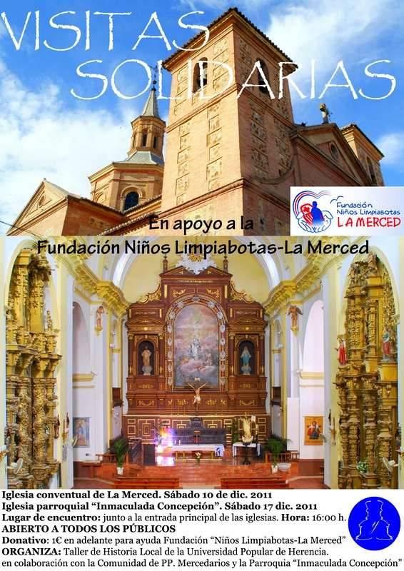 Cartel Visitas Solidarias2 - El Taller de Historia Local organiza visitas solidarias al patrimonio religioso de la localidad
