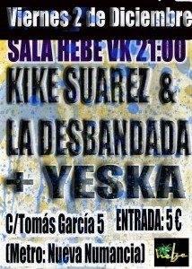 Cartel Yeska Diciembre 2011 214x300 - Yeska continúa con su gira de presentación de su disco