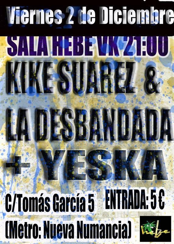 Cartel Concierto de Yeska en la Sala Hebe