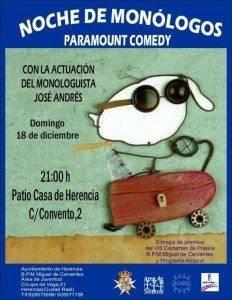 Cartel noche de monólogos Herencia 2011