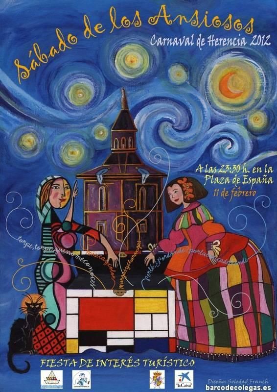 Sabado de los Ansiosos 2012 Carnaval de Herencia1 - El Sábado de los Ansiosos 2012 da la bienvenida al Carnaval de Herencia con una obra de Soledad Franch