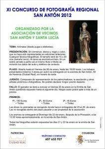 """cartel concurso fotogr%C3%A1fico san anton 212x300 - Convocado el XI Concurso Fotográfico Regional de Animales """"San Antón 2012"""""""