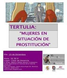 Cartel tertulia Centro de la Mujer de Herencia