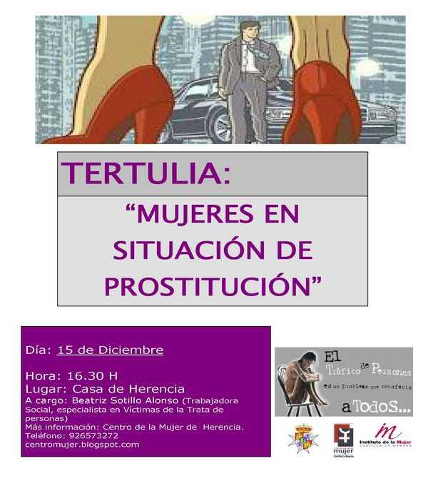 cartel tertulia prostitucion - El Centro de la Mujer organiza una tertulia sobre prostitución