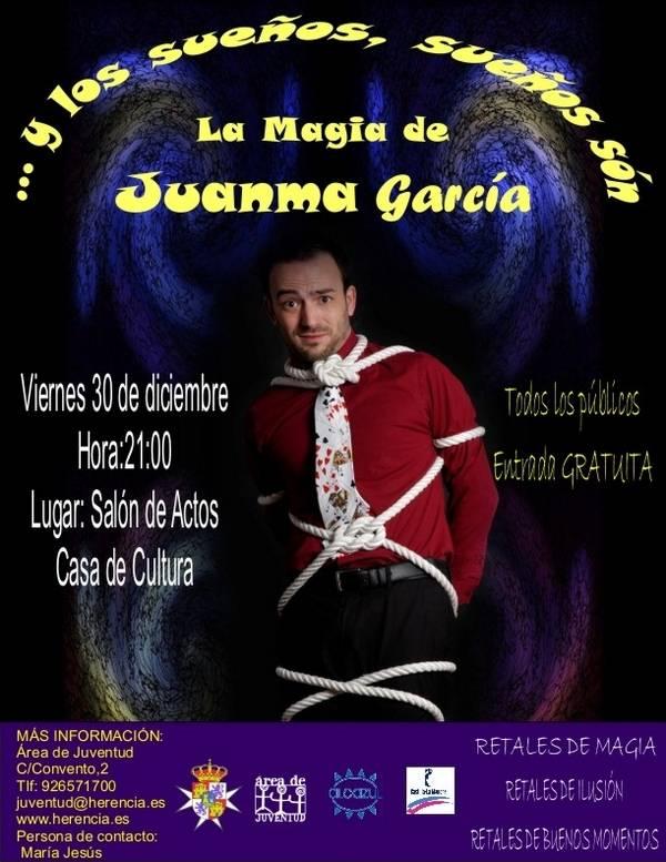 herencia cartel espectaculo de magia1 - Juanma García presentará su espectáculo de magia en Herencia