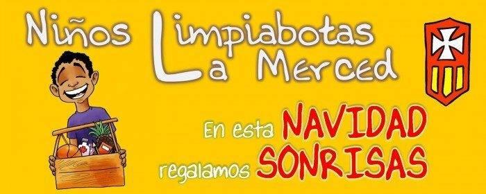 Cartel Navidad Fundación Niños Limpiabotas - La Merced