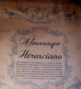 Almanaque Herenciano 2012 con efemérides e imágenes locales 1