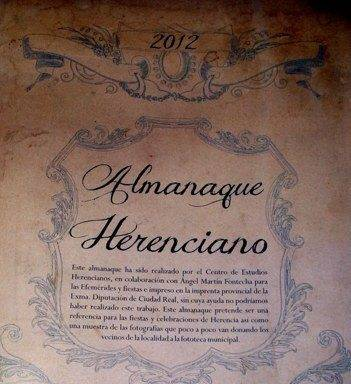 Almanaque Herenciano 2012 con efemérides e imágenes locales 2