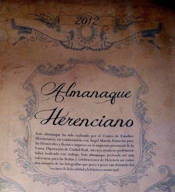 almanaque herenciano 2012 - Almanaque Herenciano 2012 con efemérides e imágenes locales
