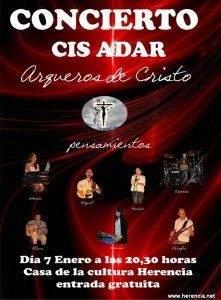 cartel Cis Adar Concierto Enero 2012 221x300 - Cis Adar actuará en Herencia el 7 de enero