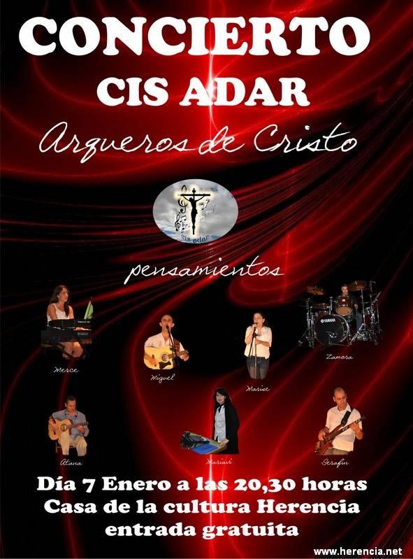 cartel Cis Adar Concierto Enero 2012 - Cis Adar actuará en Herencia el 7 de enero