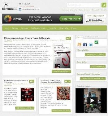 Nuevo diseño en pruebas en Herencia.net 2
