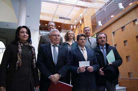 Delegación de representantes de la Universidad de Murcia y la Universidad del Mar