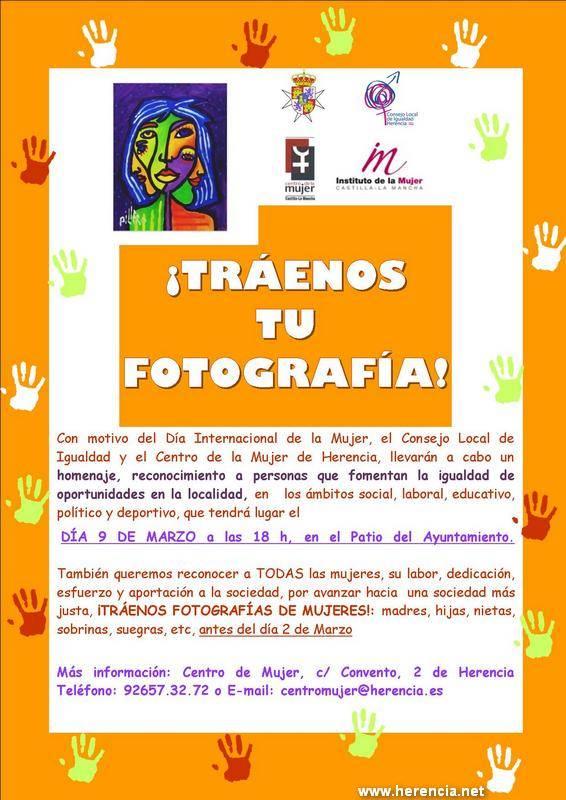 CentroMujer Cartel fotografías - Colabora en la exposición homenaje del Día Internacional de la Mujer