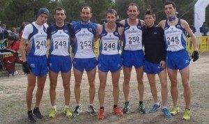 Integrantes del Valdepe%C3%B1as Athletics Club 300x178 - Valdepeñas Athletics Club se proclamó campeón de Campo a Través en Herencia