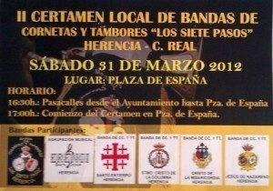 """II Certamen Local de Bandas de Cornetas y Tambores 300x210 - Segundo Certamen Local de Bandas de Cornetas y Tambores """"Los Siete Pasos"""""""