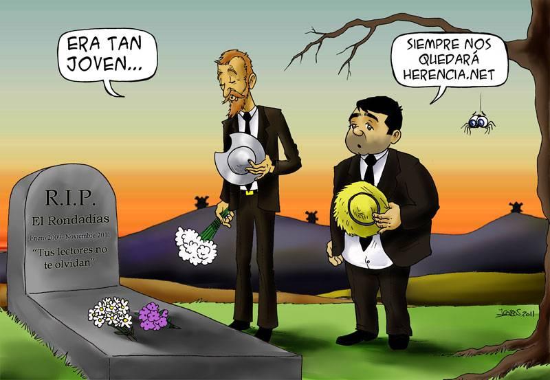 RIP el rondadias - Viñeta: R.I.P. El Rondadías