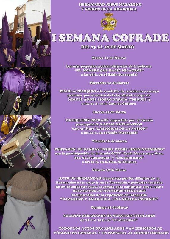 Semana Cofrade Jesús Nazareno y Virgen de la Amargura2012