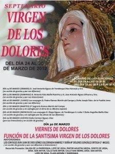 Septenerario en honor a la Virgen de los Dolores