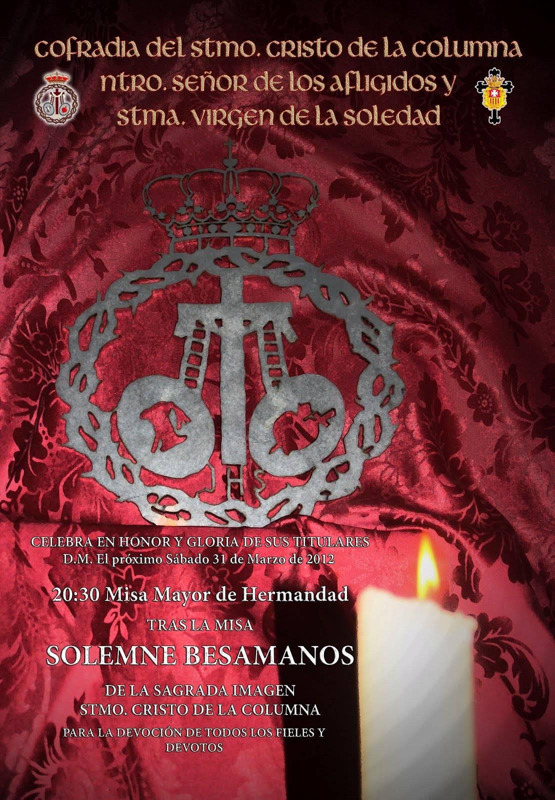 cartel besamanos cristo de la columna 2012 - Besamanos al Cristo de la Columna