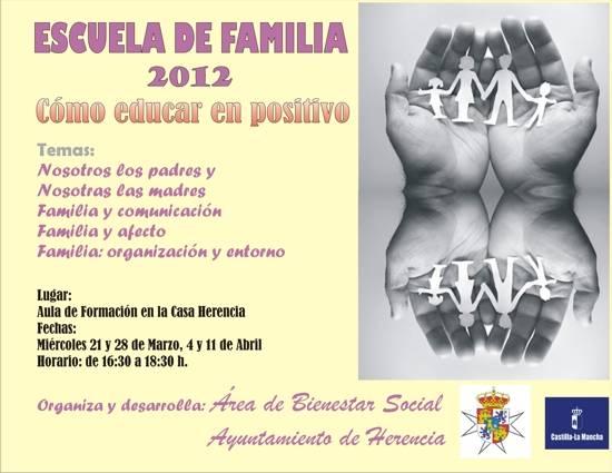 """como educar en positivo - Escuela de Familia de Herencia celebra el taller """"Cómo educar en positivo"""""""