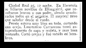 extracto diario 25 julio 1930 herencia - Anecdotario: Las vueltas que da la vida