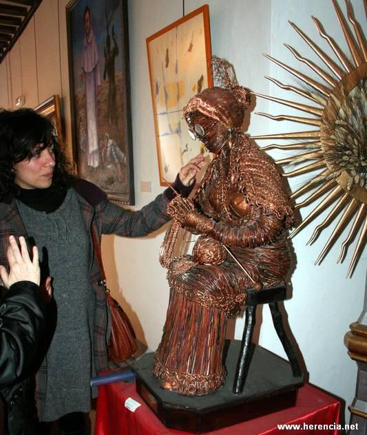 herencia jesus madero escultura y concejal cultura - Homenaje a Jesús Madero para abril el ciclo expositivo estival del Ayuntamiento de Herencia