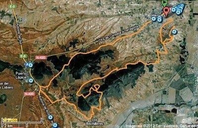 mapa ruta cicloturista 2012 - Abierto el plazo de inscripción para la cicloturista del domingo 15 de abril