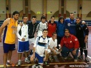 Algunos participantes del torneo 3x3 de baloncesto