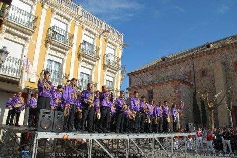 Banda de CC y TT Jes%C3%BAs Nazareno 465x311 - Fotogalería del II Encuentro Local de Bandas de Cornetas y Tambores de Herencia