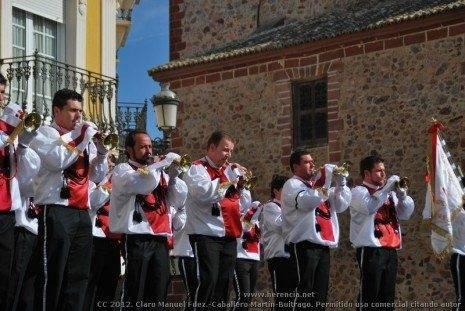 Banda de CC y TT del Santo 4 465x311 - Fotogalería del II Encuentro Local de Bandas de Cornetas y Tambores de Herencia