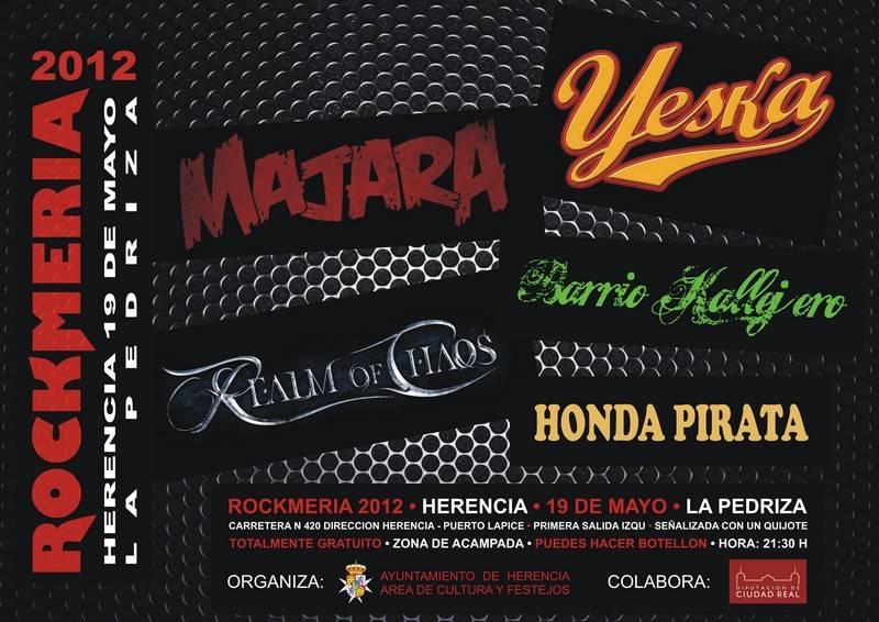 CARTEL ROCKMERIA 2012 Herencia - Listo el cartel de la Rockmería 2012 de Herencia