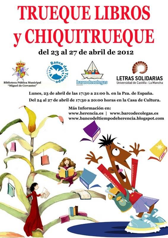 Cartel Mercado Trueque de Libros Herencia - Truequelibros y Chiquitrueque. Mercado de Trueque de Libros en Herencia