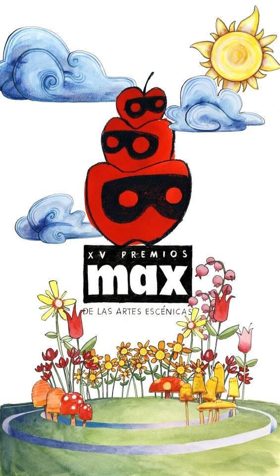 cartel premios max - Rafael Garrigós también presente en los Premios Max 2012