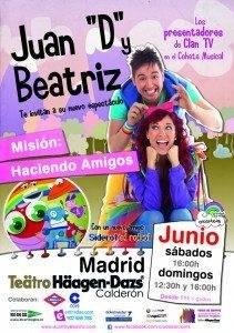"""juan D y Beatriz nuevo disco teatro Haagen Dazs 211x300 - Juan """"D"""" y Beatriz presentan su nuevo espectáculo en el Teatro Häagen-Dazs"""