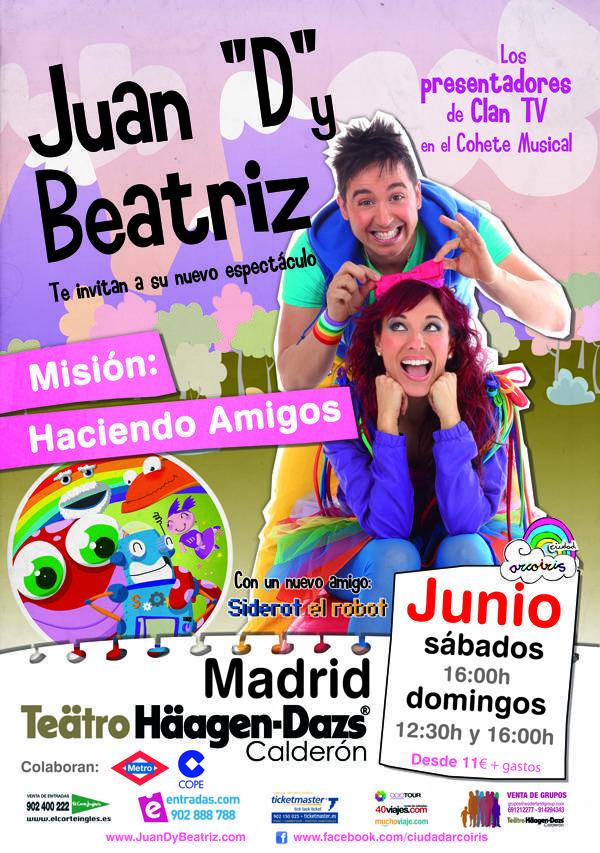 """Juan """"D"""" y Beatriz presentan su nuevo espectáculo en el Teatro Häagen-Dazs 2"""
